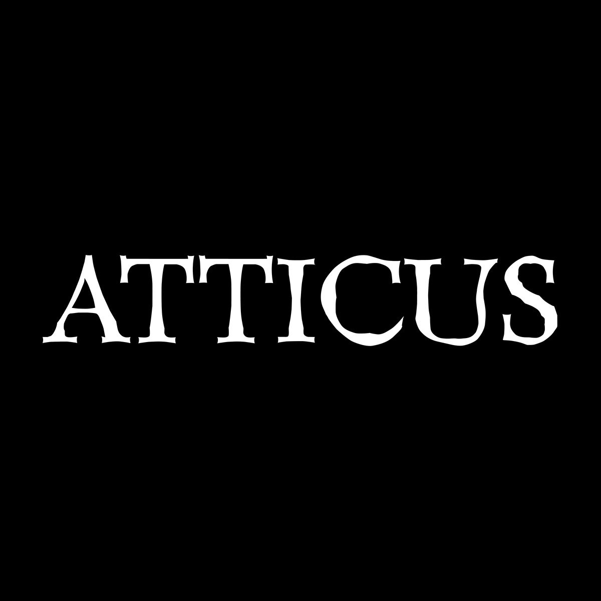 Atticus Word White Men's Hoode...