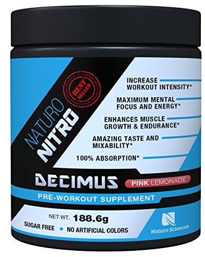 Naturo Nitro Pre Workout Decimus, Best Fat Burner Preworkout Creatine Energy Drink with, Nitrous Oxide Boosters and Amino Acids, Pre-Workout for Men and Women, 28 Servings, Pink Lemonade (Milk Freeze Packs compare prices)