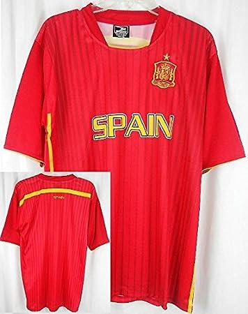 España Dri Fit luz peso fútbol estilo Jersey camiseta rojo adulto grande: Amazon.es: Deportes y aire libre