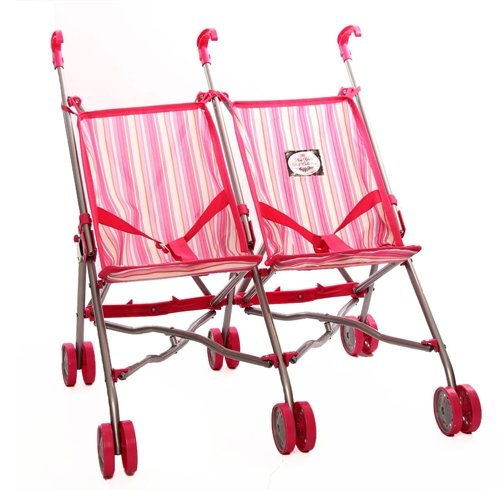 The New York Doll Collection Easy Fold n' Go Twin Doll Stroller