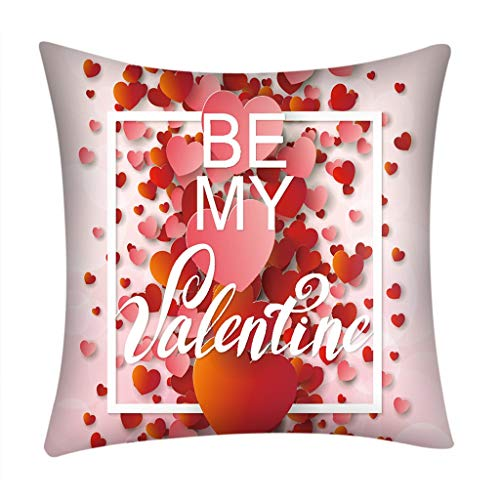 Littay Valentine's Day Polyester Printed Sofa Car Home Decoration Pillow Case 17.72