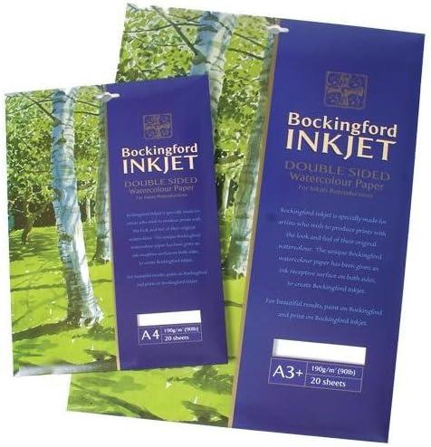 A3 20 Sheets Bockingford Inkjet Watercolour Digital Printer Paper