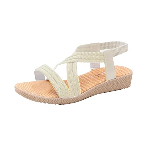 Summer Sandals Inkach Women Bohemia Sandals Flat Bandage Shoes Casual Peep-Toe Outdoor Shoes