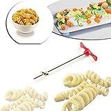 Jonerytime❤️Rotating Machine Manual Magic Roller Spiral Slicer Radish Potato Spiral Cutter White
