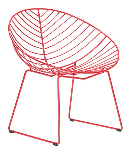 Zuo Lounge Chair One Size Red (Zuo Patio Chair)