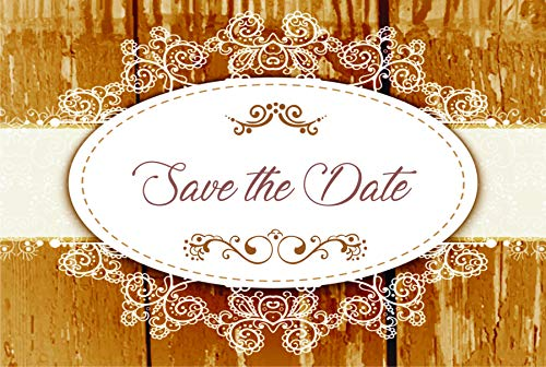 Vintage Wood Wedding Save The Date Postcards - 6in. X 4in. (100) ()