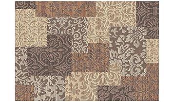 Webtappeti elegante tappeto moderno stile floreale beige e