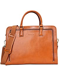 Women's Full Grains Leather Briefcase Messenger Satchel Bag 14 Laptop Cas