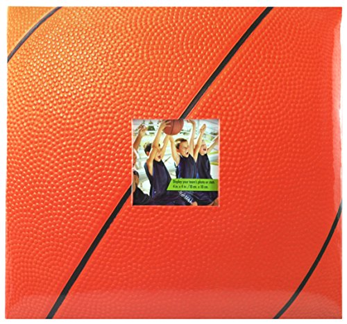 MCS MBI 13.5x12.5 Inch Basketball Theme Scrapbook Album with 12x12 Inch Pages with Photo Opening (865402)