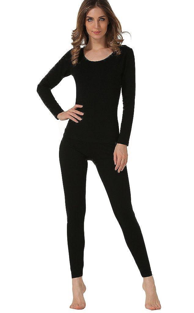 Hieasy Women's Stretch Cotton Thermal Underwear Mid Weight Base Layer Set