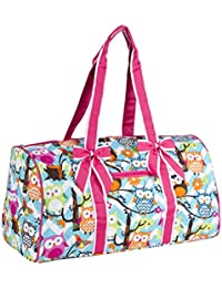 NGIL Owl Chevron Quilted Duffle Bag (Pink)
