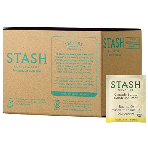 - Stash Tea Organic Sunny Dandelion Root 100 Count Tea Bags (packaging may vary) Individual Herbal Tea Bags for Use in Teapots Mugs or Cups, Brew Hot Tea or Iced Tea