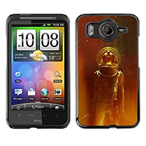 A-type Colorful Printed Hard Protective Back Case Cover Shell Skin for HTC Desire HD / G10 / inspire 4G( Space Suit Travel Stars Universe Helmet Cosmos )