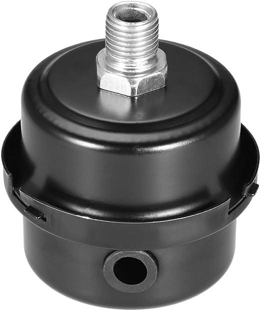 uxcell 2pcs Metal Air Compressor Filter Silencer 2.44 Diameter 2.83 Height 3//8 BSP 16mm Thread
