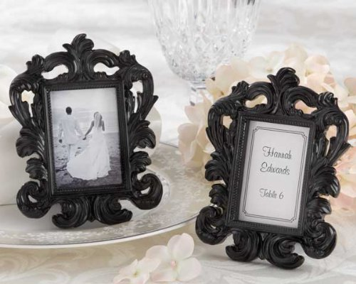 108 ''Black Baroque'' Elegant Place Card Holder Photo Frames