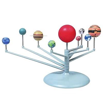Juguetes Creativos, Zantec Sistema Solar 3D Planetario Modelo de Estudio de Aprendizaje Kits de Ciencias Educativos Modelo de Astronomía DIY Juguete de Regalo: Hogar