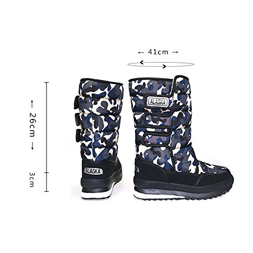 Eastlion Winter skid Unisex Scarpe Fleece Anti Green Snowboots Warm qBxzpfq