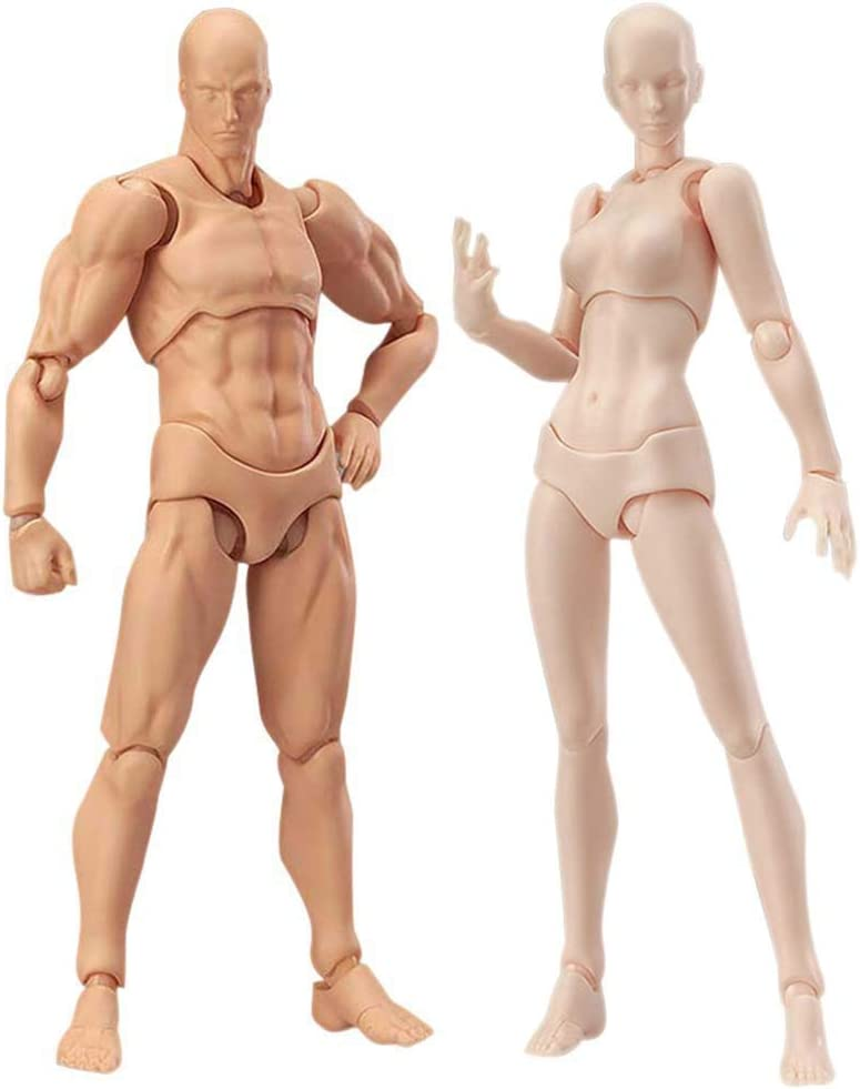 Amazon Com Action Figures Body Models For Artists From Art Reference Model And Action Figure Female Male Mannequin Model For Drawing Painting Sketching Improve Your Drawing Skills Now Toys Games
