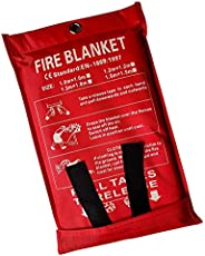 Victosoaring Emergency Survival Fiberglass Fire Blanket Shelter Safety Cover Ideal for The Kitchen, Fireplace,