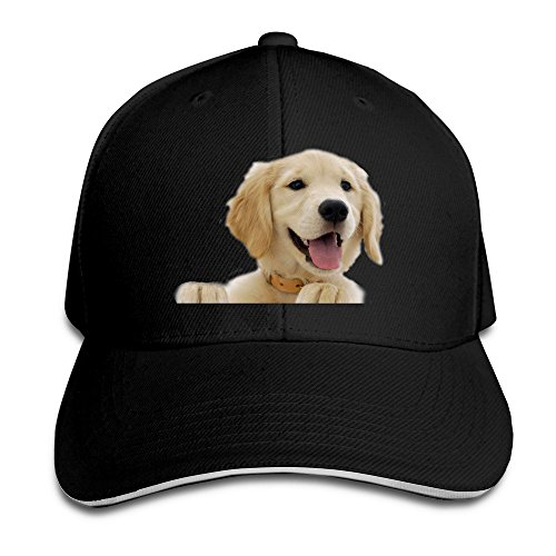 unisex-golden-retriever-adjustable-snapback-baseball-hat-100cotton-black-one-size
