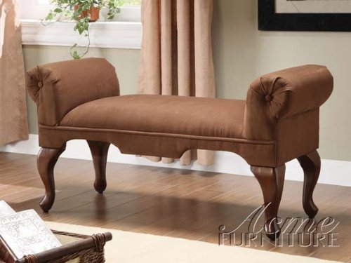 Queen Anne Upholstered Bench - 2