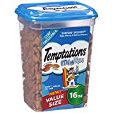 TEMPTATIONS MixUps Treats for Cats SURFER'S DELIGHT Flavor 16 Ounces, With Our Mouthwatering Menu We Have a Flavor For Every Feline