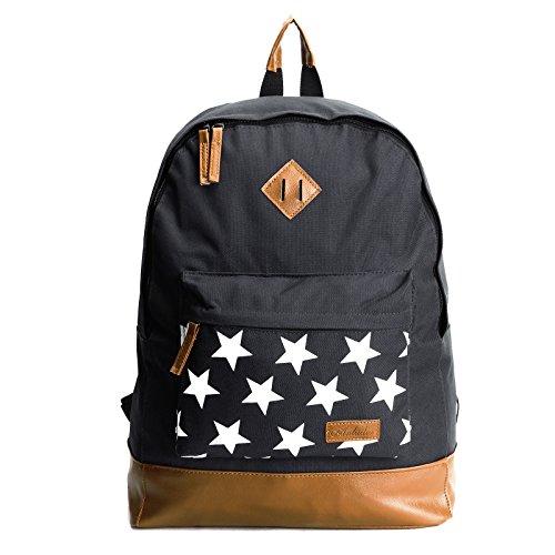 - Retro Large Backpack Rucksack School College Student Bag Ladies Girls Mens Boys