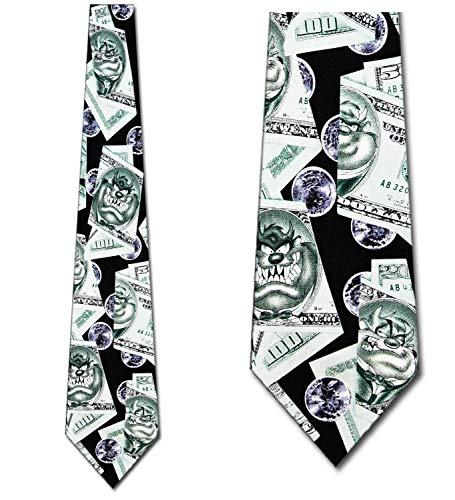 Taz Money Tie - Mens Looney Tunes Necktie ()