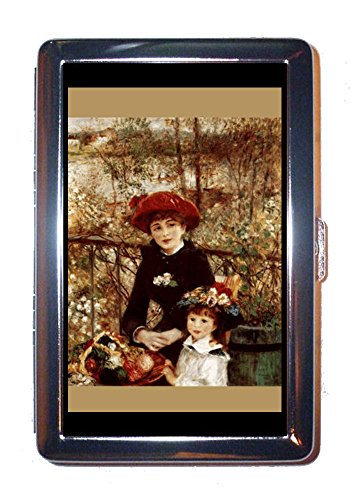 (Renoir On the Terrace Impressionist Art Stainless Steel ID or Cigarettes Case (King Size or 100mm))