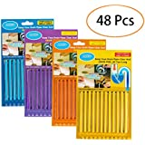 IUPET 4 Packs(48 pcs) Drain Cleaner Sticks Keeps Drains and Pipes Clear and Odor As Seen On TV