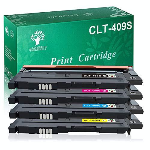 GREENSKY Compatible for Samsung CLT-409S CLT-K409S CLT-C409S CLT-M4079S CLT-Y409S Color Toner Cartridge Set Fit CLP-310 CLP-310N CLP-315 CLP-315W CLX-3170 CLX-3175FN CLX-3175FW (4 Pack)