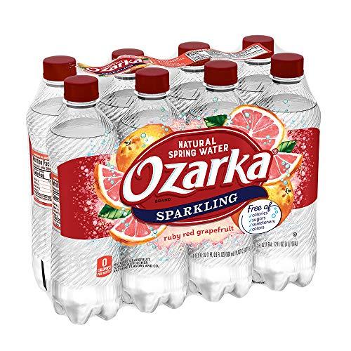 Ozarka Sparkling Water, Red Ruby Grapefruit, 16.9 oz. Bottles, 8 Count