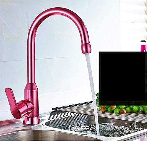 Zxyan 蛇口 立体水栓 洗面化粧台のシンクの蛇口温水と冷水ピンクの浴室の洗面台のシンクタップ浴室の蛇口 トイレ/キッチン用