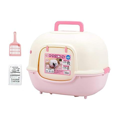 ZZ Cat litter Tray Lavabo para Gatos Bandeja para lavabos Baño Completamente Cerrado Desodorante portátil Baño