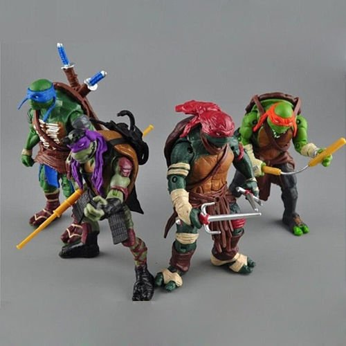 "Hot Teenage Mutant Ninja Turtles Movie 5"" Action Figure 4pcs/Lot Toys TMNT"