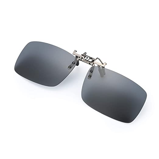 6091904cd3 Image Unavailable. Image not available for. Color  ELIVWR Unisex Polarized  Clip-on Sunglasses over Prescription Glasses