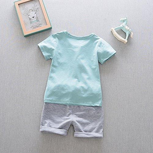 T Avec Acmede Ensemble Courtes Garçon Bébé Vert Vetements Été Cravate shirt Enfants Short Manches Rf6vYqwf