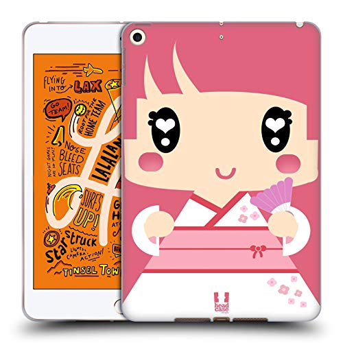 Head Case Designs Pink Japanese Kimono Girl Kawaii Series 1 Soft Gel Case Compatible for iPad Mini ()