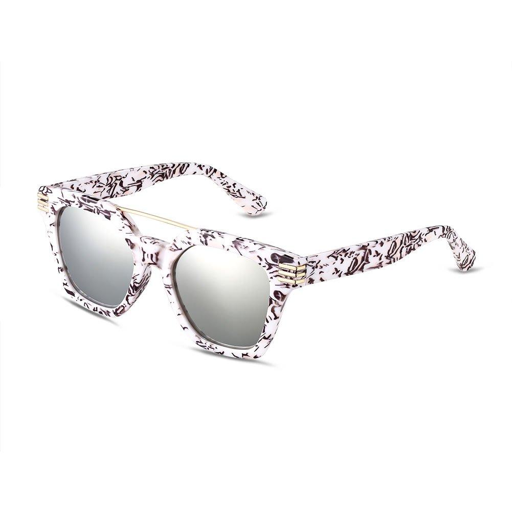 NYKKOLA vintage Fashion irregolari UV lenti a specchio Wayfarer occhiali da sole polarizzati per le ...