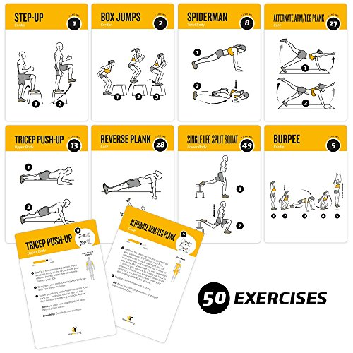 exercise cards bodyweight home gym workout personal
