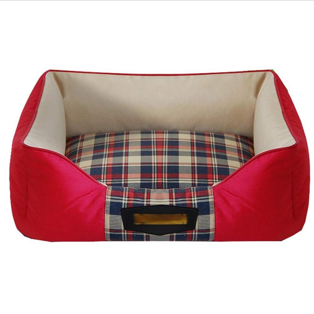 RED MediumPet Sofa Pet Bed Cat Kenkel Cat Nest Pet Nest Dog Fully Enclosed Remable and Wasable, Nonslip Haiming (Colore:RED, Dimensione: M)
