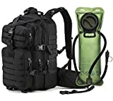 Ultimate Arms Gear Stealth Black Heavy Duty Combat Multi-Functional Equipment Survival Assault Transport Medium 17'' Bug-Out Bag BackPack with Adjustable Slip Shoulder Detachable Length Straps MOLLE System Shooting Range Military Hunting Camping Law Enforc