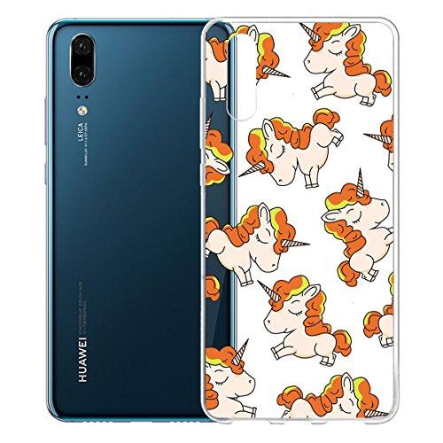 Funda para Huawei P20 , IJIA Transparente Adorable Pony TPU Silicona Suave Cover Tapa Caso Parachoques Carcasa Cubierta para Huawei P20 (5.8) WM139