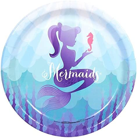 Mermaids Under the Sea Party Supplies - Dinner Plates (48)