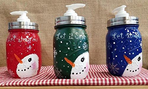 Let it Snow snowman Soap Dispenser -