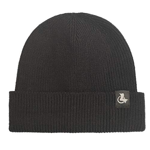 LETHMIK Kids Cuff Beanie Hat,Boys&Girls Winter Knit Plain Children Solid Color Skull Cap Hat Black