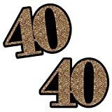 Adult 40th Birthday - Gold - Decorations DIY Party Essentials - Set of 20