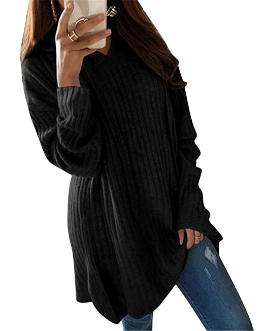 48226c2d0ba OTW Womens Solid Color Long Sleeve Plus Size Irregular Loose Pullover  Hoodie Sweatshirts Black XXS