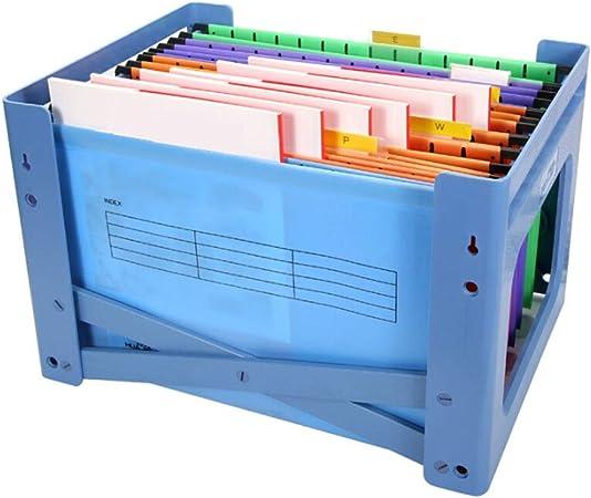 Kerryshop Organizadores de Documentos Caja de Almacenamiento de Datos de Archivos de plástico PP Rack de Archivos A4 Suministros de Oficina: con 24 Bolsas de Archivo Archivador Organizador: Amazon.es: Hogar