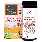 PREGMATE 100 Urinary Tract Infection UTI Test Strips Leukocytes and Nitrite at Home Testing Kit for Women (100 Tests)